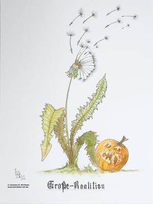 Pusteblume im Herbst