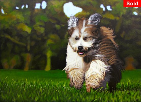 Zora, © 2017 Scott Holt, acrylic on canvas, 50x70cm/19.7x27.6in