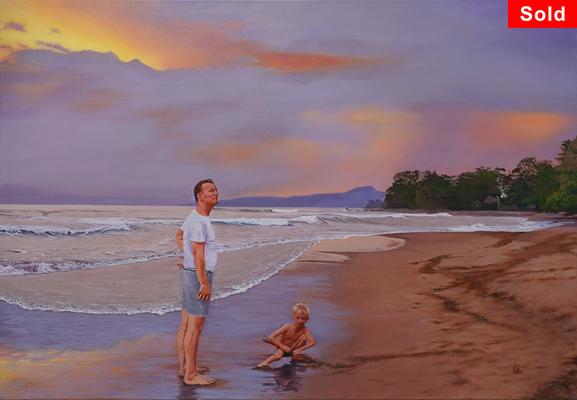 Indonesian Dream, © 2019 Scott Holt, acrylic on canvas, 70x100cm/27.6x39.4in