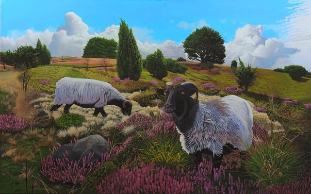 On the Heath, © 2014 Scott Holt, acrylic on canvas, 125x200cm/49.2x78.7in