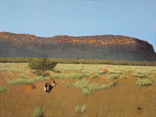 On Waterberg, © 2018 Scott Holt, acrylic on canvas, 60x70cm/23.6x31.5in