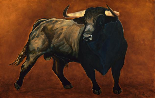El Toro, © 2016 Scott Holt, acrylic on canvas, 95x150cm/37.4x59.1in