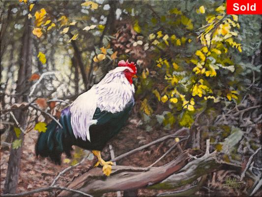 Italian Guard, © 2018 Scott Holt, acrylic on canvas, 30x40cm/11.8x15.8in