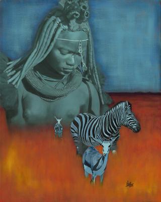 Namibia, © 2018 Scott Holt, acrylic on canvas, 50x40cm/19.7x15.7in