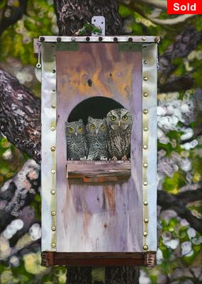 Backyard Beauty, © 2019 Scott Holt, acrylic on canvas, 70x50cm/27.6x19.7in