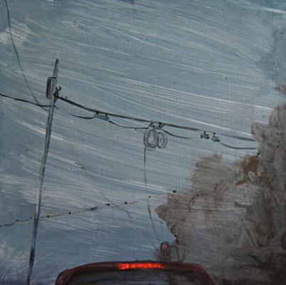 Baustelle _ aus der fortlaufenden Serie Liebes Tagebuch  _ Acryl / Bleistift auf Leinwand | 40x40cm, 2015