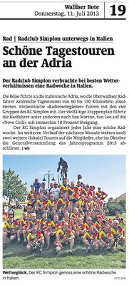 Walliser_Bote_2013_07_11_Schöne_Tagestouren_an_der_Adria
