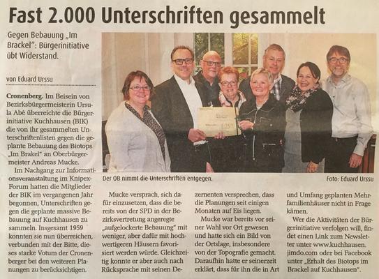 Wuppertaler Rundschau 30.11.2016