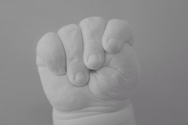Körperabformung 3D Babyhandabdruck