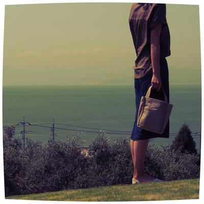 小豆島とオリーブ帆布バッグ