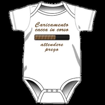 Body personalizzato per neonati - Cacca in caricamento