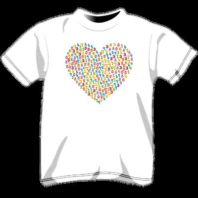 Maglietta personalizzata per bambini - cuore di numeri