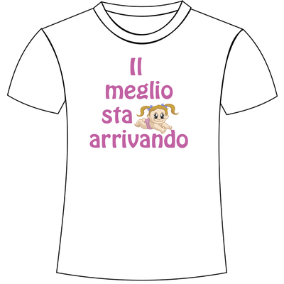 T-shirt personalizzata con stampa per mamma in dolce attesa