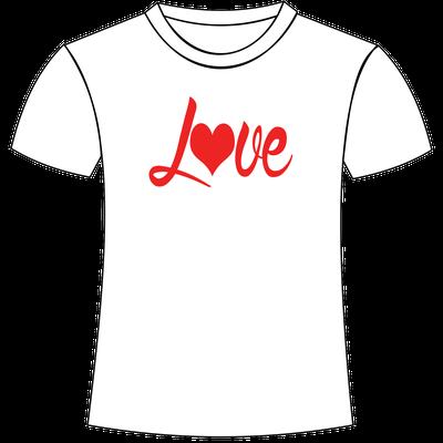 Love stampato su t-shirt personalizzata da Foto e Grafica Immagini San Giorgio di Nogaro