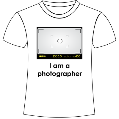 Sono fotografo - Magliette personalizzate a tema fotografia San Giorgio di Nogaro