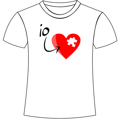 Maglietta stampata amore per lui e lei
