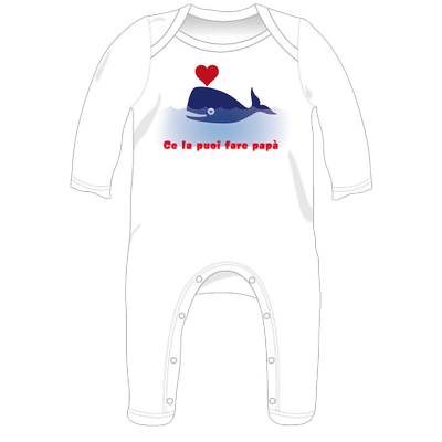Tutina con stampa personalizzata per neonati