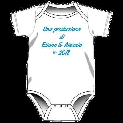 Body con stampa personalizzata per neonati