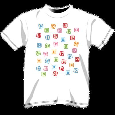 Maglietta personalizzata per bambini - lettere alfabeto