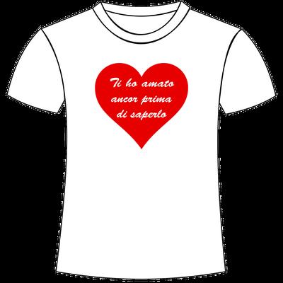 Maglietta stampata tema amore, personalizzata da Foto e Grafica IMMAGINI