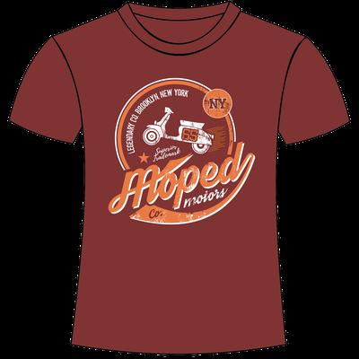 maglietta con stampa personalizzata vespa old america