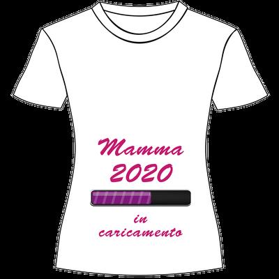 Maglietta personalizzata con stampa per mamma in dolce attesa