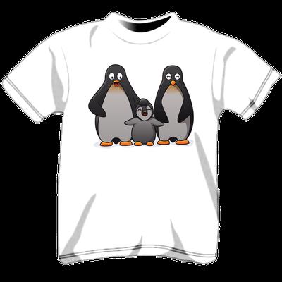 Stampa maglietta personalizzata per bambini - pinguini