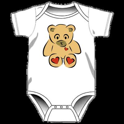 Body con stampa personalizzata per neonati - orsetto