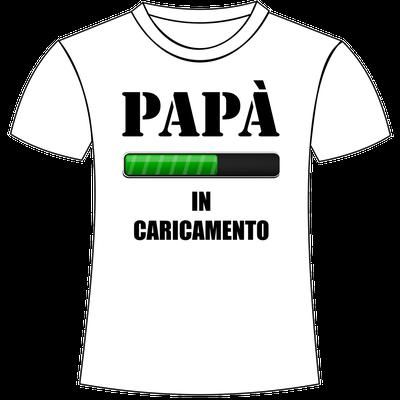 Maglietta personalizzata con stampa per papà in dolce attesa