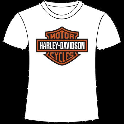 T-shirt con stampa logo Harley Davidson