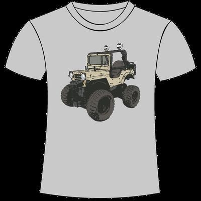 T-shirt con stampa personalizzata gippone fuoristrada