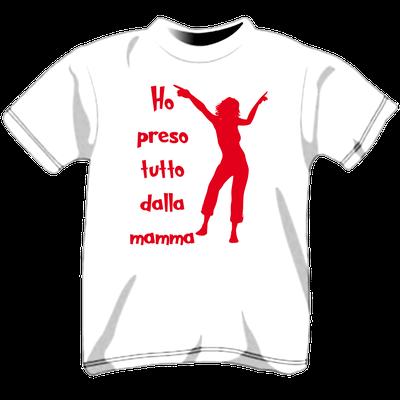Maglietta personalizzata per bambini - Ho preso tutto dalla mamma