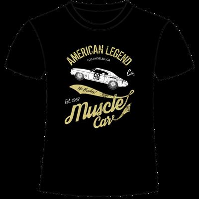 T-shirt con stampa personalizzata old american car