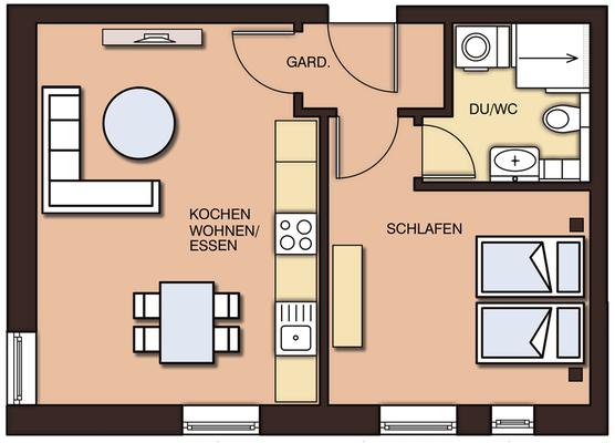 Grundrisse mit Möblierung - Homestaging
