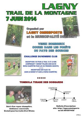 Trail de la montagne de Lagny (dép60 - 12 et 23km - Sam07/06/2014) Photos de Clara 13ans et Basile 11ans