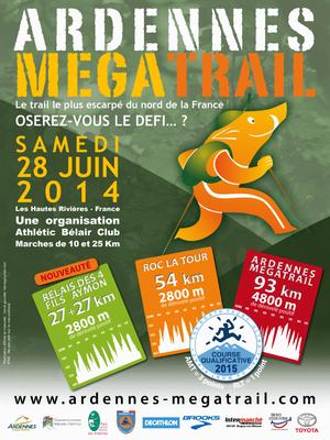 MégaTrail des Ardennes (Hautes Rivières - dép08 - 54/93km - Sam28/06/2014) Photos de Clara, 13ans
