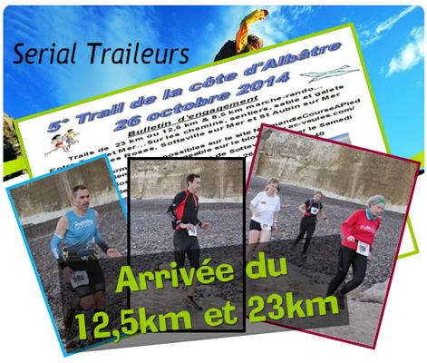 Trail de la Côte d'Albâtre 2014 (Sotteville/mer - dép76 - 12,5/23km - Dim26/10/2014)