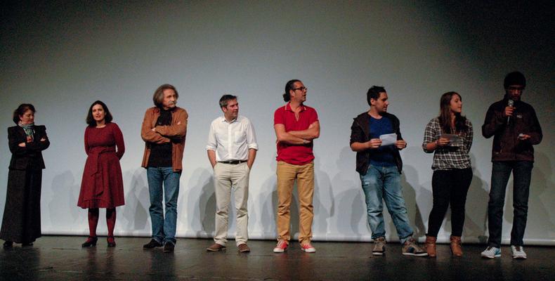 """Le jury """"Corsica.Doc/Via Stella"""" et Le jury jeune public à la remise des prix le soir de la clôture"""
