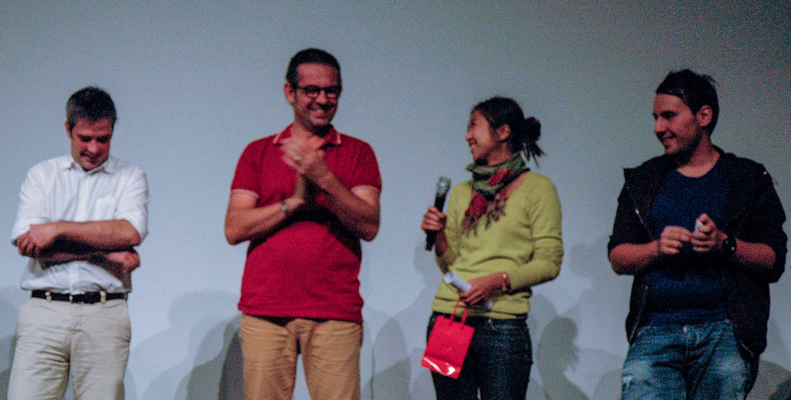 Paul Filippi et la réalisatrice primée Nguyen Long Tuong Vi