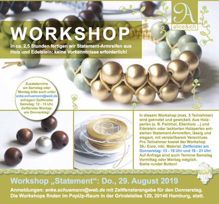 Workshop: Statement-Armreifen aus Holz und Edelstein knoten