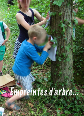 Mais pour les plus jeunes, des empreintes d'arbre, j'en veux !!!