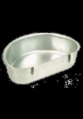 Abreuvoir ou mangeoire en acier galvanisé - 15 x 10 x 4