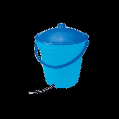 Seau - Avec couvercle et sortie pour tuyau 10 mm (18 l)