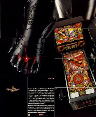 """8seitiger deutscher Flyer """"Black Knight 2000"""" von Williams"""