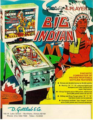 """Flyer """"Big Indian"""" von Gottlieb"""