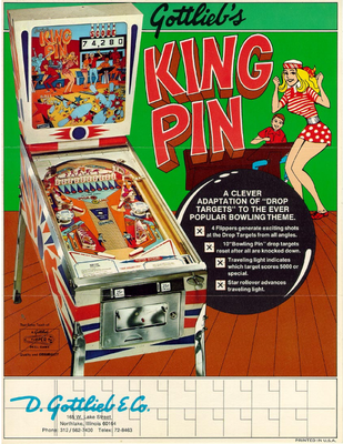 "Flyer ""King Pin"" von Gottlieb"