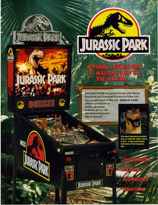 "Flyer ""Jurassic Park"" von Data East"