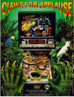 "Flyer ""Creature from the Black Lagoon"" von Bally"