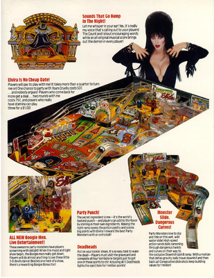 "Flyer ""Elvira and the Partymonsters"""
