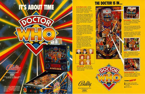 """2seitiger Flyer"""" Doctor Who"""" von Bally"""